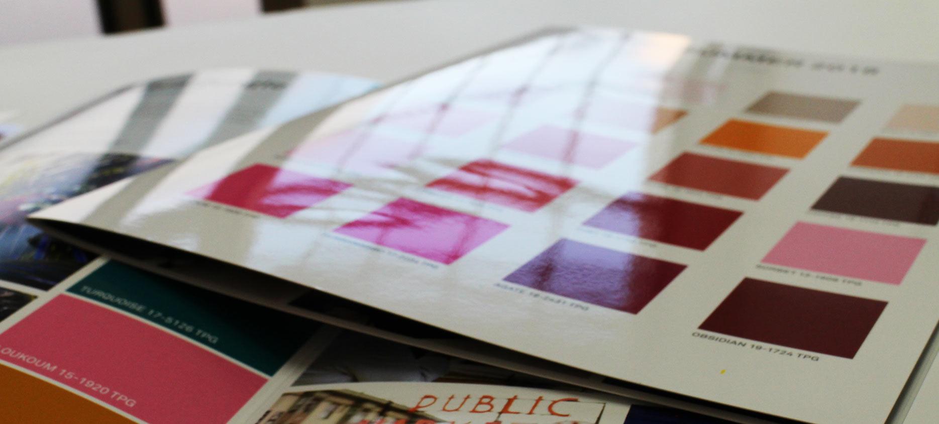 supergrafica tipografia santa croce sull'arno stampa Cartelle mazzette colori